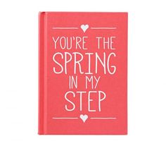 """You're the Spring in My Step"" Book 