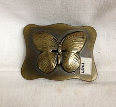 ViNTAGE BRASS BuTTERFLY BELT BuCKLE, womens accessory 1970, BoHO ChIC AccESorIES. WOMEN's ViNTAGE Jewelry https://www.etsy.com/listing/260425988 $34.95
