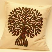 Tree of Life Applique Cushion Cover Applique Cushions, Cover, Life, Decor Pillows, Slipcovers