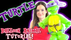 Turtle Warrior Ninja Balloon Animal Tutorial - How To's with Holly!