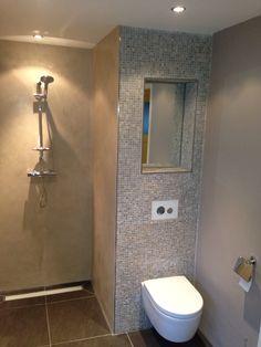 badkamer op maat gemaakt met beton cire stucwerk en vloer van, Badkamer