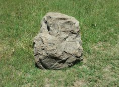 """Fake Rock For Well Head Covers, Shown in Canyon Brown 51""""L x 33""""W x 30""""H 47 lbs. Item# 2155 Cap Rock"""