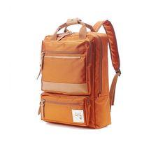 10% off 7567.5 Two front Zipper pocket Backpack Orange