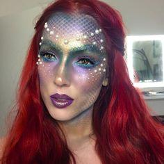 20 Unique Mermaid Makeup Looks For Halloween   Gurl.com #facepaintingideasforadults