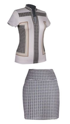 Tail Ladies Golf Outfits (Shirt & Pull On Skort) – Opulence (Deco Print) #golf #clothing #lorisgolfshoppe