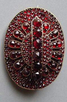 Victorian Garnet Brooch