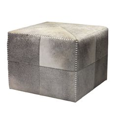Shop Jamie Young  Grey Hide 20OTTO Ottoman at ATG Stores. Browse our ottomans, all with free shipping and best price guaranteed.