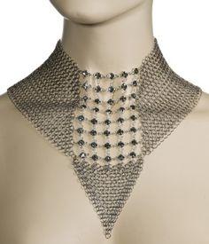 Ferrara Black Diamond Swarovski Crystals Necklace $204