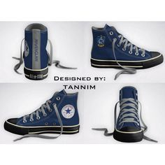 Custom Harry Potter: House Ravenclaw Converse Chucks ($115) ❤ liked on Polyvore featuring shoes, harry potter, 18. converse., sneakers and ravenclaw
