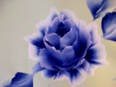 Come dipingere la rosa. how to paint a rose , Wie zu malen eine Rose. One stroke