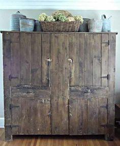 I love, love, love this cabinet ~ Rustic Farmhouse
