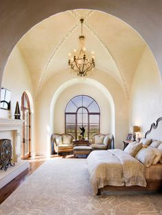 Magnificent ceiling details makes this a one of a kind master bedroom...with a fireplace ablaze, what a romantic way to spend a winter's night