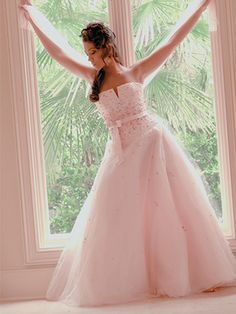 Pink tulle gown Tulle Gown, Pink Tulle, Pretty In Pink, Gowns, Wedding Dresses, Fashion, Daughter, Vestidos, Bride Dresses