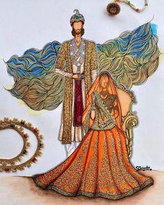 Fashion Design Template, Fashion Design Sketches, Sketch Design, Illustration Techniques, Hand Illustration, Fashion Illustration Dresses, Fashion Illustrations, Fashion Figures, Bollywood Fashion