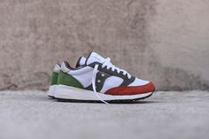 Saucony Jazz 91 - White / Red / Green