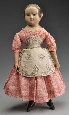 Antique Izannah Walker Dolls Doll at Morphy's Auction 2011 June