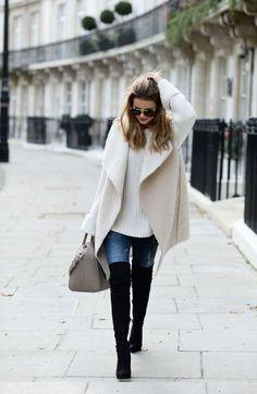 So könnt ihr Overknees im Alltag tragen