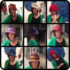 A selection of felted hats created by Barbara Scott of #wowcreationsqld