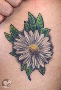 Seven Doubts About Realistic Daisy Tattoo You Should Clarify.- Seven Doubts About Realistic Daisy Tattoo You Should Clarify Daisy Tattoo Designs, Daisy Flower Tattoos, Tattoo Designs For Girls, Daisies Tattoo, Daisy Flowers, White Daisy Tattoo, Floral Tattoos, Tattoo Flowers, Tattoo Foto