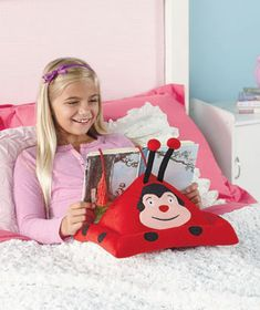 Children's Book or E-Reader Pillows. Kids can view their reading material at the perfect angle.