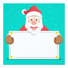 Lovely santa claus with blank sign Free Vector Merry Christmas Card, Santa Christmas, Xmas Cards, Christmas Greetings, Christmas And New Year, Holiday Cards, Cute Christmas Backgrounds, Naughty Santa, Calendar Stickers