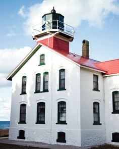 The 161-year-old Grand Traverse Lighthouse, located at the tip of the peninsula. Michigan's Leelanau Peninsula - Martha Stewart Home & Garden