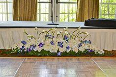 Blue Wedding Arrangements, Floral Design, Reception, Floral Patterns, Receptions