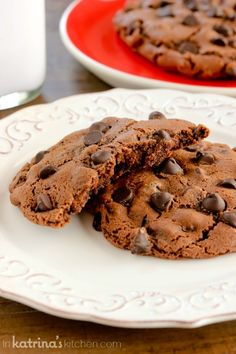 Double Chocolate Chip Cookies for Two from @katrinaskitchen