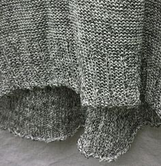 Newsprint Inside/Out Tank - hand loomed knit - cotton & linen SS2014 www.caramayknits.com