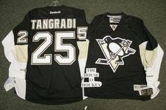 PITTSBURGH PENGUINS REEBOK #25 ERIC TANGRADI HOCKEY JERSEY NOW ON SALE AT THE HOUSE O' HOCKEY, IN MURRYSVILLE, PA