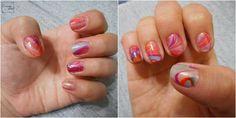 Esmalte da Semana | Water Marbled | Nail Polish | Nail Art | Desafio 31 unhas | Perspectiva Laranja
