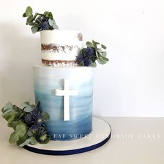 ideas baby boy baptism decorations christening first communion for 2019 Boys First Communion Cakes, Boy Communion Cake, First Communion Party, Christening Cake Boy, Baby Boy Baptism, Boy Baptism Cakes, Boy Baptism Party, Boys Christening Decorations, Communion Decorations