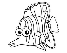 color in this butterfly fish coloring page like butterflies butterflyfish are brightly colored