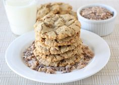 Toasted Coconut, Toffee, and Chocolate Chip Cookies on twopeasandtheirpod.com All of my favorites in one cookie! #cookies