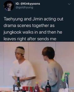 he rlly said: imma head out 😭😭 - - Bts Memes Hilarious, Bts Funny Videos, Funny Tweets, Bts Taehyung, Bts Bangtan Boy, Namjoon, Taekook, Btob, Bts Vmin