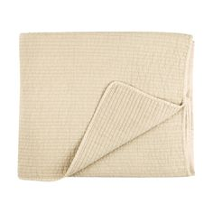 AUGUST, bedspread in sand color, 100% cotton, filling: 100% polyester. By PelleVavare