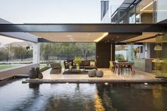 Modern Residence Design and Really Cool Living Room Area