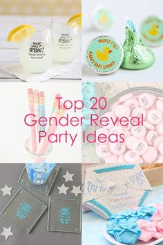 Looking for the perfect gender reveal party ideas? Check out our top 20 favorite favors and decor to get inspired!