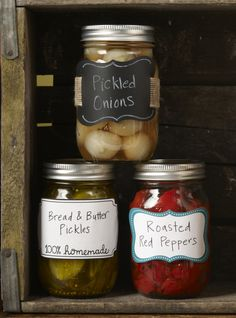 Use sticker, labels or chalkboard wallies to accent your canned creations