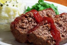 Yes Virginia There Is A Meatloaf. I like the catchy title and this recipe for meatloaf makes one of the best if not the best meat loaf in the world. You just have to try this wonderfully delicious meatloaf. World's Best Meatloaf Recipe, Meatloaf Recipes, Meat Recipes, Cooking Recipes, Healthy Recipes, Easy Meatloaf, Protein Recipes, Quick Recipes, Dinner Recipes