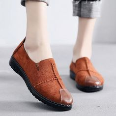 Women Casual Suede Slip On Breathable Soft Sole Loafers - Banggood Mobile Loafers For Women, Loafers Men, Shoes Women, Uganda, Georgia, Loafers Online, Hot Shoes, Women's Shoes, Sierra Leone