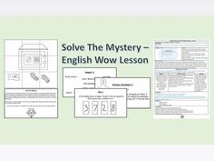 Solve The Mystery - English Wow Lesson Escape room based writing lesson. Ks2 English, Primary English, Teaching Resources, Teaching Ideas, Report Writing, English Activities, Writing Lessons, Escape Room, English Lessons