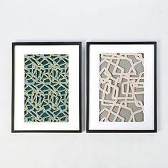 Framed Handmade Paper Wall Art - Abstract Lines #westelm