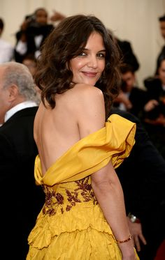"""Katie Holmes attends the """"Charles James: Beyond Fashion"""" Costume Institute Gala at the Metropolitan Museum of Art on May 5, 2014 in New York City."""