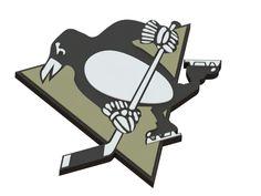 Pittsburgh Penguins ice hockey team logo #3dmodel   #logo #icehockey   #NHL   #PittsburghPinguins