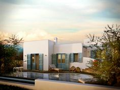 Construction Costs to build a house in Crete Greece. Building A Small House, Building Costs, Build Your House, Building A New Home, Build Your Dream Home, Building Permit, Swimming Pool Construction, Construction Cost, 3d Architectural Visualization