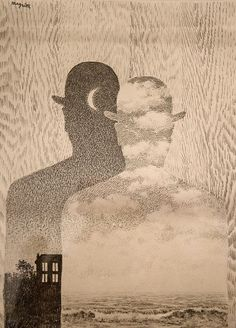 René Magritte - Surrealism - 'The Thought Which Sees', 1965