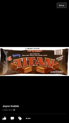 Aldi Titan Bars. 8.5 syns each