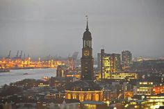 Hamburg & Michel am Abend