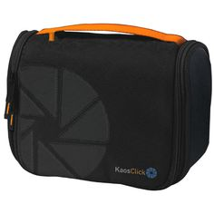 KAOS CLICK-NON STOP: Travel cosmetic bag - Material: Nylon with faux leather inserts - Size: 23 x 20 x 10 cm